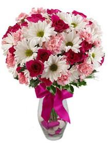 Gaziantep online çiçekçi , çiçek siparişi  Karisik mevsim kir çiçegi vazosu