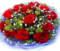 9 adet kirmizi güllerden buket  Gaziantep çiçek online çiçek siparişi