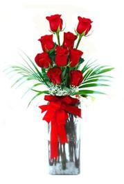 Gaziantep çiçek online çiçek siparişi  9 adet mika yada cam vazoda gül tanzimi