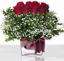 Gaziantep çiçek yolla , çiçek gönder , çiçekçi   mika yada cam vazo içerisinde 7 adet gül