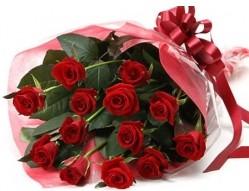 Gaziantep hediye çiçek yolla  10 adet kipkirmizi güllerden buket tanzimi