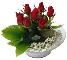 Gaziantep çiçek yolla , çiçek gönder , çiçekçi   cam yada mika içerisinde 5 adet kirmizi gül