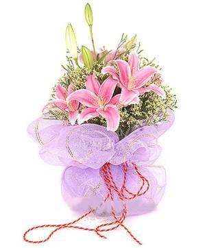 3 dal kazablanka görsel buketi  Gaziantep çiçek yolla , çiçek gönder , çiçekçi