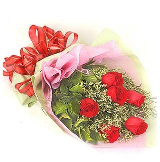Gaziantep çiçek mağazası , çiçekçi adresleri  6 adet kırmızı gülden buket