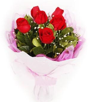 Gaziantep çiçekçi mağazası  kırmızı 6 adet gülden buket