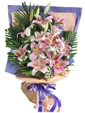 7 dal kazablankadan görsel buket  Gaziantep internetten çiçek siparişi