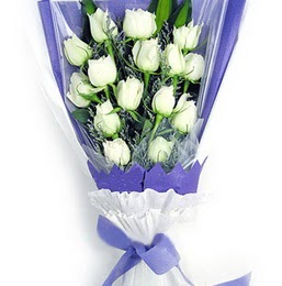 Gaziantep yurtiçi ve yurtdışı çiçek siparişi  11 adet beyaz gül buket modeli
