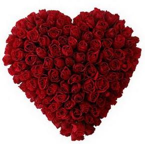 Gaziantep yurtiçi ve yurtdışı çiçek siparişi  muhteşem kırmızı güllerden kalp çiçeği