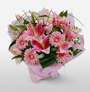 1 dal kazablanka ve kır çiçek görsel buketi  Gaziantep çiçek yolla , çiçek gönder , çiçekçi