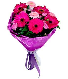 Gaziantep online çiçekçi , çiçek siparişi  karışık gerbera çiçeği buketi