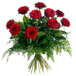 Gaziantep hediye sevgilime hediye çiçek  10 adet kırmızı gülden buket