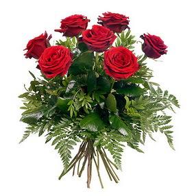 Gaziantep çiçek gönderme  7 adet kırmızı gülden buket
