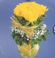 Gaziantep hediye çiçek yolla  Cam vazoda 9 Sari gül