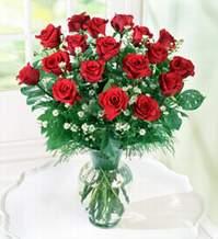 Gaziantep çiçek yolla , çiçek gönder , çiçekçi   9 adet mika yada vazoda kirmizi güller