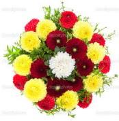 Gaziantep yurtiçi ve yurtdışı çiçek siparişi  13 adet mevsim çiçeğinden görsel buket
