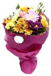 1 demet karışık görsel buket  Gaziantep hediye çiçek yolla