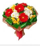 1 demet karışık buket  Gaziantep çiçekçi mağazası