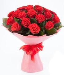 15 adet kırmızı gülden buket tanzimi  Gaziantep online çiçekçi , çiçek siparişi