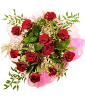 12 adet kırmızı gül buketi  Gaziantep ucuz çiçek gönder