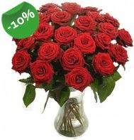 Vazo içerisinde 25 adet kırmızı gül  Gaziantep çiçekçi telefonları