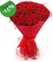 51 adet kırmızı gül buketi özel hissedenlere  Gaziantep online çiçekçi , çiçek siparişi