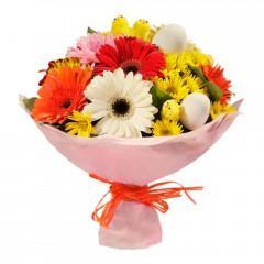 Karışık mevsim buketi Mevsimsel çiçek  Gaziantep çiçek gönderme sitemiz güvenlidir