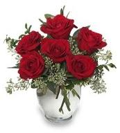 Vazo içerisinde 5 adet kırmızı gül  Gaziantep yurtiçi ve yurtdışı çiçek siparişi