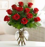 Vazo içerisinde 12 kırmızı gül  Gaziantep çiçek servisi , çiçekçi adresleri