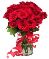 21 adet vazo içerisinde kırmızı gül  Gaziantep çiçek servisi , çiçekçi adresleri