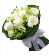 9 adet beyaz gül buketi  Gaziantep online çiçekçi , çiçek siparişi