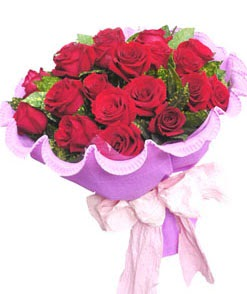 12 adet kırmızı gülden görsel buket  Gaziantep yurtiçi ve yurtdışı çiçek siparişi