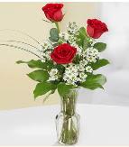Vazo içerisinde 3 adet kırmızı gül  Gaziantep çiçek servisi , çiçekçi adresleri