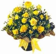 Gaziantep çiçek mağazası , çiçekçi adresleri  Sari gül karanfil ve kir çiçekleri
