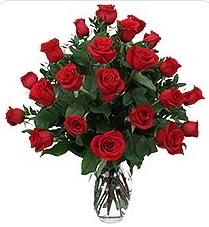 Gaziantep online çiçekçi , çiçek siparişi  24 adet kırmızı gülden vazo tanzimi