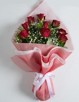 9 adet kırmızı gülden buket  Gaziantep çiçek servisi , çiçekçi adresleri