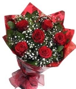 6 adet kırmızı gülden buket  Gaziantep online çiçek gönderme sipariş