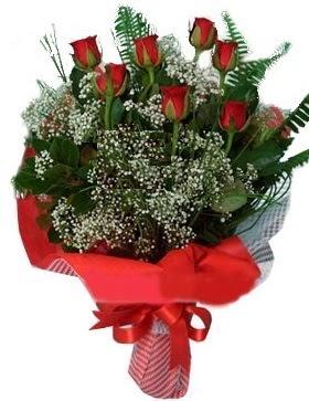 7 kırmızı gül buketi  Gaziantep internetten çiçek satışı