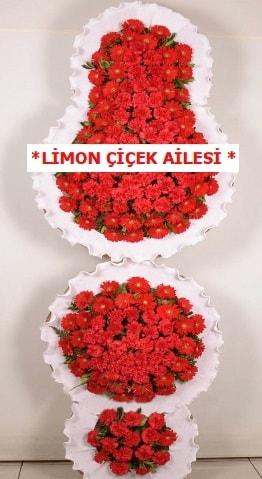 3 katlı kırmızı düğün açılış çiçeği  Gaziantep hediye sevgilime hediye çiçek