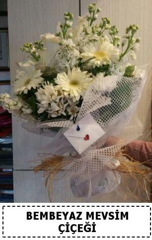 Bembeyaz görsel mevsim çiçek buketi  Gaziantep anneler günü çiçek yolla