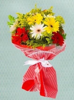 Karışık Gelbera Buketi  Gaziantep online çiçekçi , çiçek siparişi