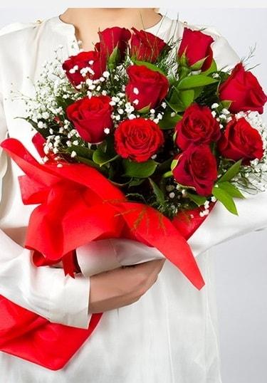Aşk Gülleri 11 Adet kırmızı gül buketi  Gaziantep çiçek online çiçek siparişi