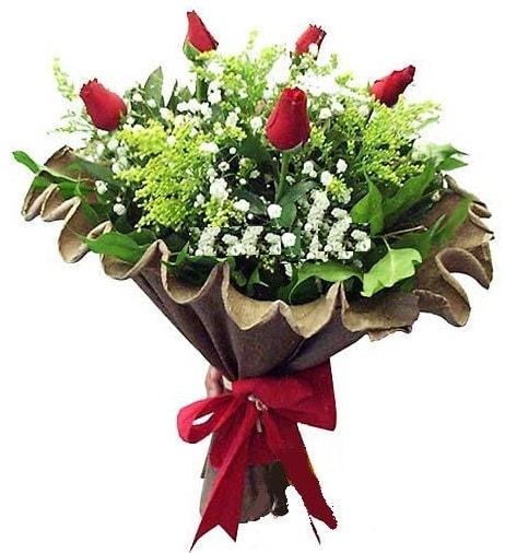 5 adet gülden buket  Gaziantep 14 şubat sevgililer günü çiçek