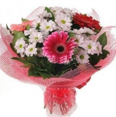 Gerbera ve kır çiçekleri buketi  Gaziantep çiçek gönderme sitemiz güvenlidir