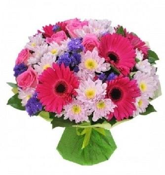 Karışık mevsim buketi mevsimsel buket  Gaziantep çiçek servisi , çiçekçi adresleri