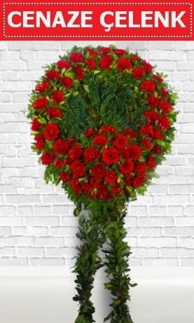 Kırmızı Çelenk Cenaze çiçeği  Gaziantep uluslararası çiçek gönderme