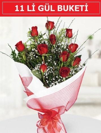 11 adet kırmızı gül buketi Aşk budur  Gaziantep 14 şubat sevgililer günü çiçek