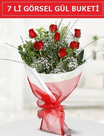 7 adet kırmızı gül buketi Aşk budur  Gaziantep çiçek servisi , çiçekçi adresleri