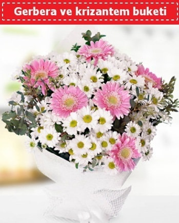 Papatya ve Gerbera Buketi  Gaziantep çiçek mağazası , çiçekçi adresleri