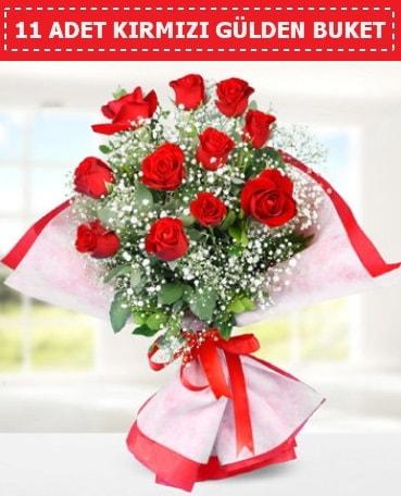 11 Adet Kırmızı Gül Buketi  Gaziantep çiçek gönderme sitemiz güvenlidir