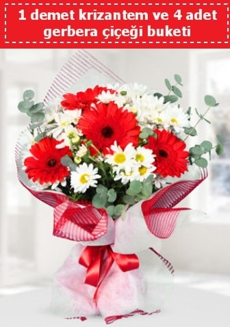 Krizantem ve Gerbera Buketi  Gaziantep online çiçekçi , çiçek siparişi